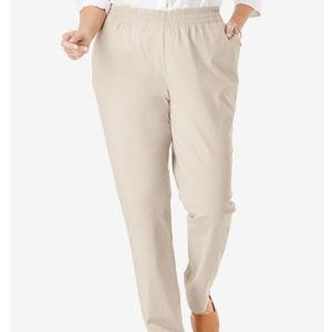 Basic Editions tan khaki pants